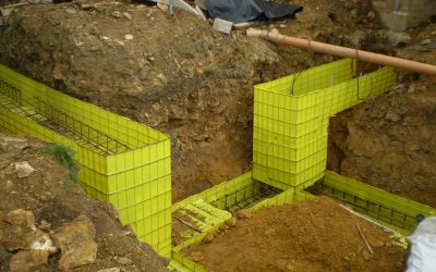 New foundation for a domestic dwelling