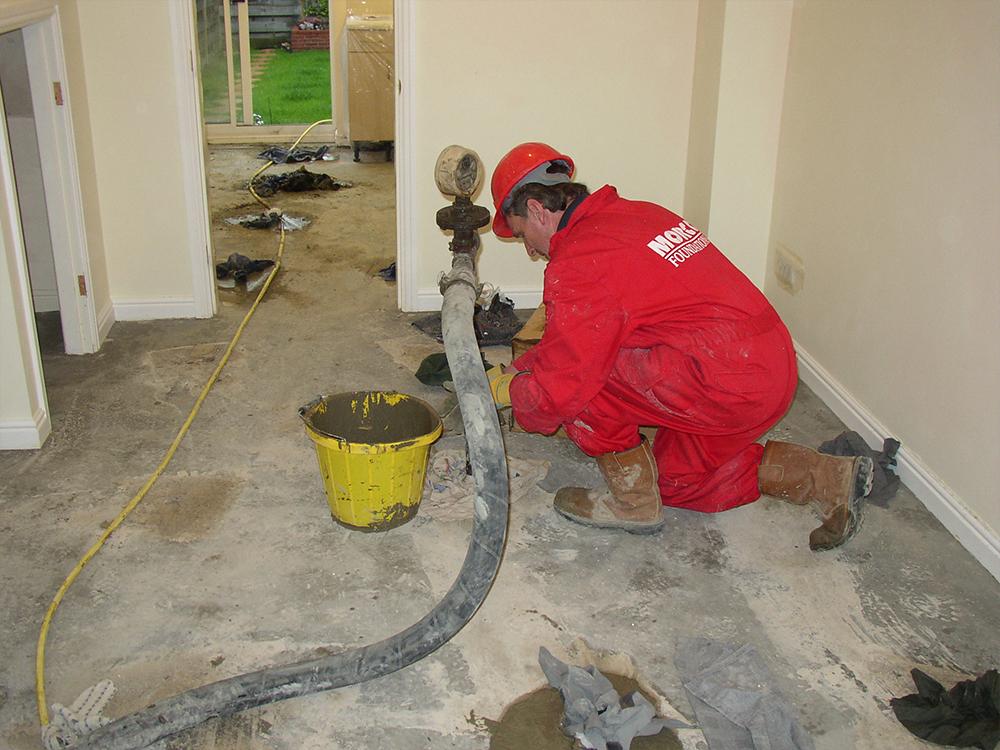 Floor slab stabilisation