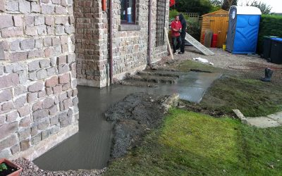 Underpinning to house and garage